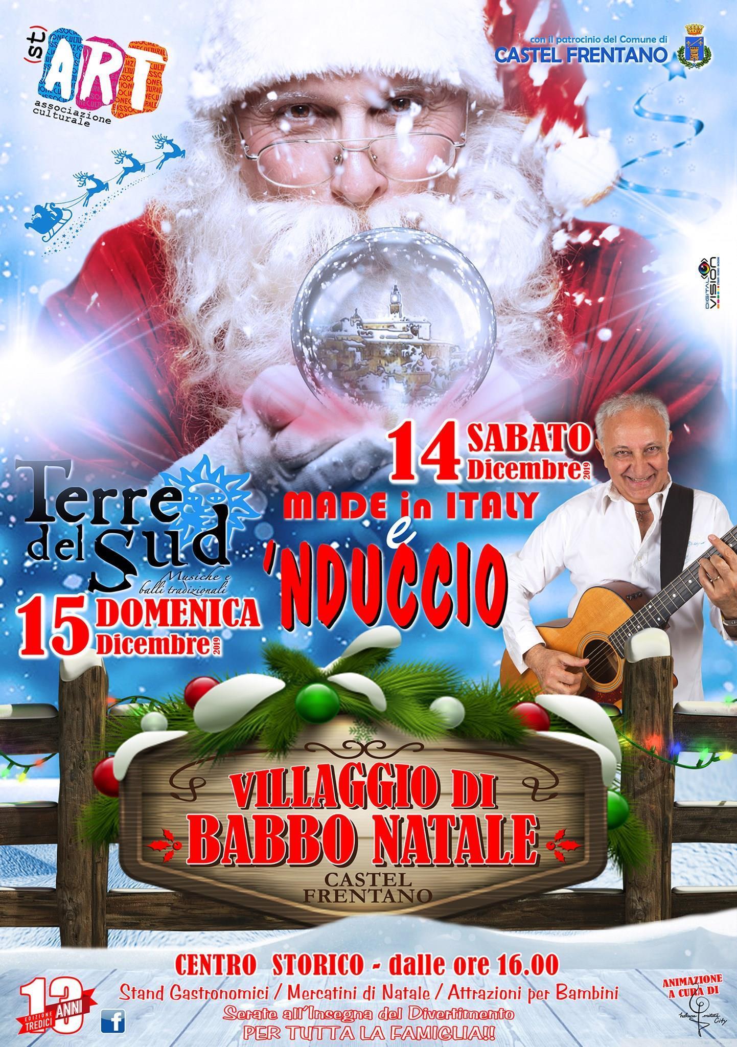 Locandina Villaggio di Babbo Natale 2019