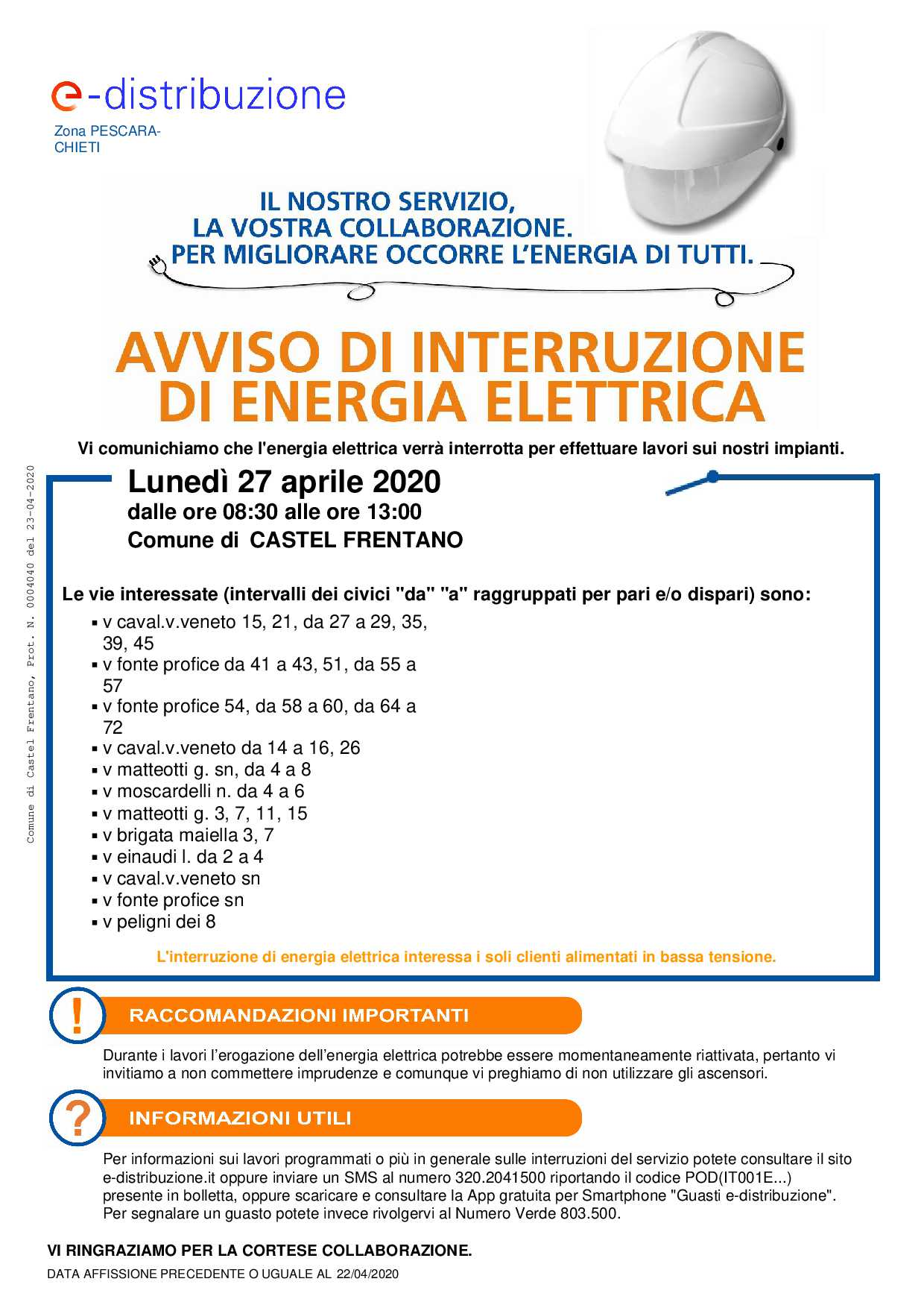 Manifesto Enel 27 aprile 2020