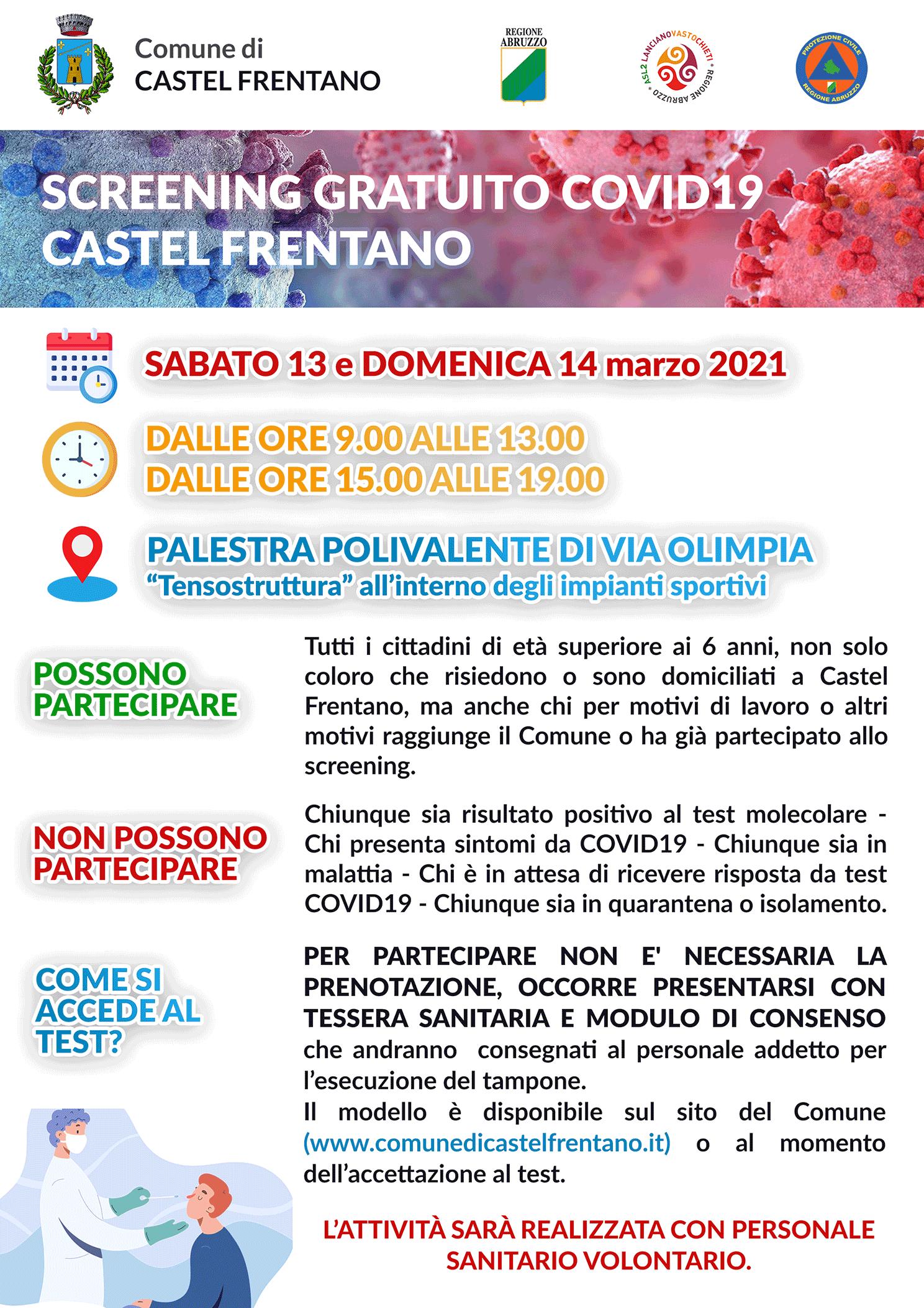 Locandina Screening Castel Frentano