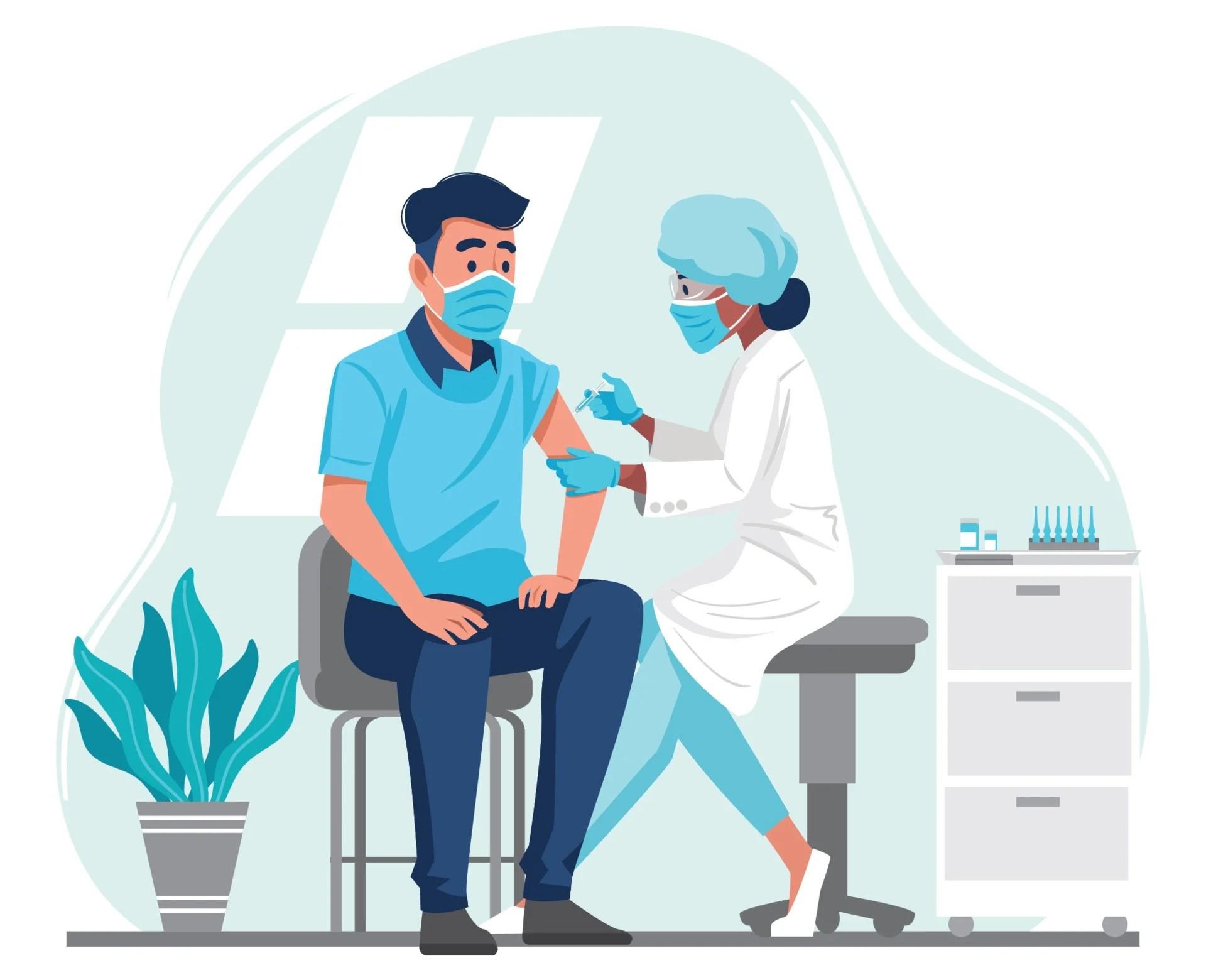 Medico vaccinazione COVID
