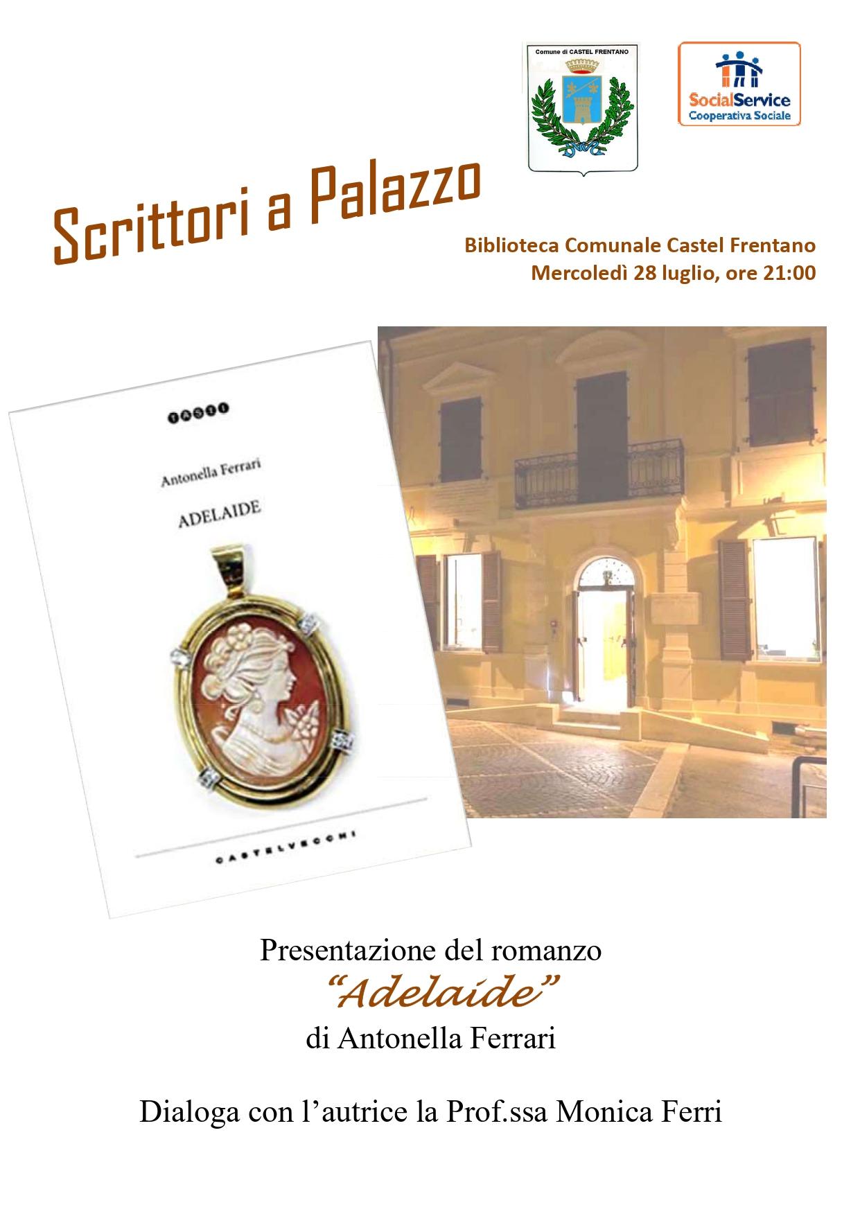 Locandina presentazione del romanzo il 28 luglio 2021